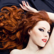 Redhead sensuality - Stock Photo
