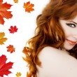 Lady autumn — Foto Stock