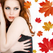 lady-herbst — Stockfoto