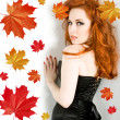 Lady autumn — Stock Photo #1205536