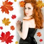Lady autumn — Stock Photo