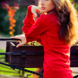 Stock Photo: Lady in red