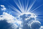 Lindo céu azul — Fotografia Stock