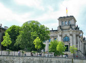 Reichstag in Berlin, Germany, view from — Stock Photo