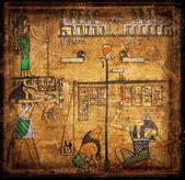 Papyrus de l'ancienne egirtian — Photo