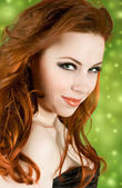 Redhead pretty girl — Stock Photo