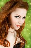 赤毛のかわいい女の子 — ストック写真