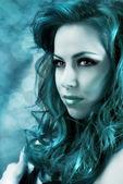 Beautiful mermaid with long hair and brilliance skin — Stockfoto