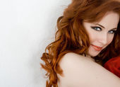Sexy redhead — Stock Photo