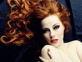 Kızıl saçlı duygusallık — Stok fotoğraf
