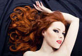 Redhead sensuality — Stock Photo