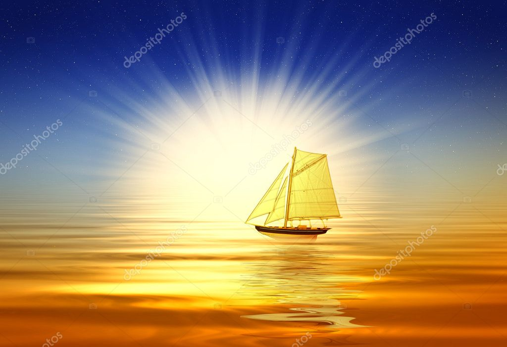 Beautiful golden sunrise — Stock Photo #1201937