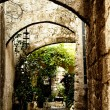 Medieval street in Old city of Rhodes island. Greece — Stock Photo #1249120