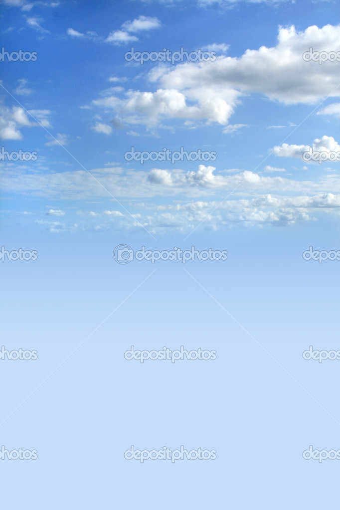 Beautiful blue cloudy sky for you design — Stock Photo #1248525