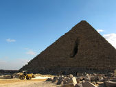 Grande pyramide de gizeh, egypte — Photo