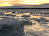 Sunrise-sunset in the Arctic Circle — Stock Photo