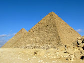 Two pyramid in Giza (Egypt) — Stock Photo