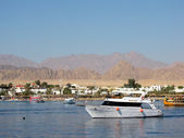 Bay with yachts in Egypt, Sharm el Sheik — Stock Photo