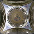 Painting the dome Holy Sepulcher in Jeru — Stock Photo