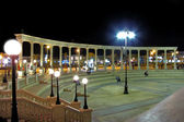 Colonnade at night, Sharm El Sheikh, Egy — Stock Photo