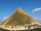 Pyramid of Cheops at Giza, Egypt — Stock Photo