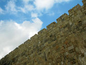 Jerusalem, the old city walls — Stock Photo
