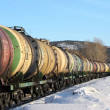 Stock Photo: Transportation of oil by rail