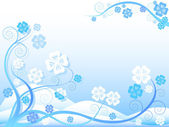 Floral winter background — Stock Vector