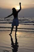 Sunset silhouette — Stock Photo