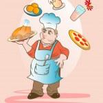 Постер, плакат: Funny cook