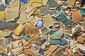 Ceramics wall background — Stock Photo