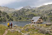 Hiking in Pyrenees — Stock Photo
