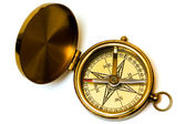 Old style brass compass — Stock Photo