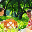 Friends on picnic — Stock Photo