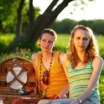 Girls on picnic — Stock Photo
