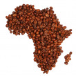 Africa made with coffee — Stock Photo