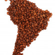 South America made with coffee — Foto de Stock