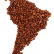 South America made with coffee — Stock Photo