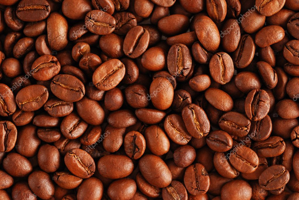 Coffee beans background close up  Stock Photo #1200785