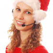 Santa Hello Girl — Stock Photo #1215775