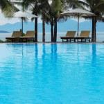 Tropical pool beside the sea — Stock Photo