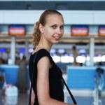 in attesa di un volo — Foto Stock