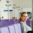 Waiting for a flight — Stock Photo