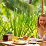 Tropical breakfast — Stock Photo