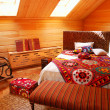 Stock Photo: Wooden bedroom