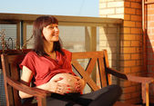 Waiting for a first child — Stock Photo