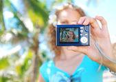Shooting self portrait — Stock Photo