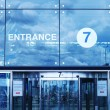 Airport entrance — Stock Photo
