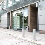 Modrn office entrance — Stock Photo