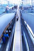 Travelator in airport — Stock Photo